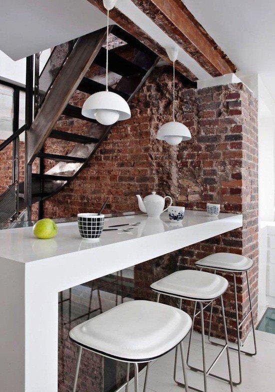 Gambar Batu Bata Desain Interior Modern dan Klasik - Tembok Batu Bata - Interior Desain Kamar Rumah 20