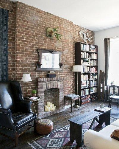 Gambar Batu Bata Desain Interior Modern dan Klasik - Tembok Batu Bata - Interior Desain Kamar Rumah 46