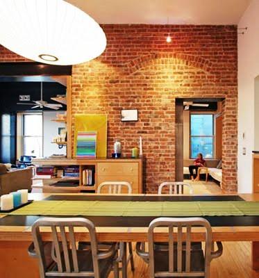 Gambar Batu Bata Desain Interior Modern dan Klasik - Tembok Batu Bata - Interior Desain Kamar Rumah 54