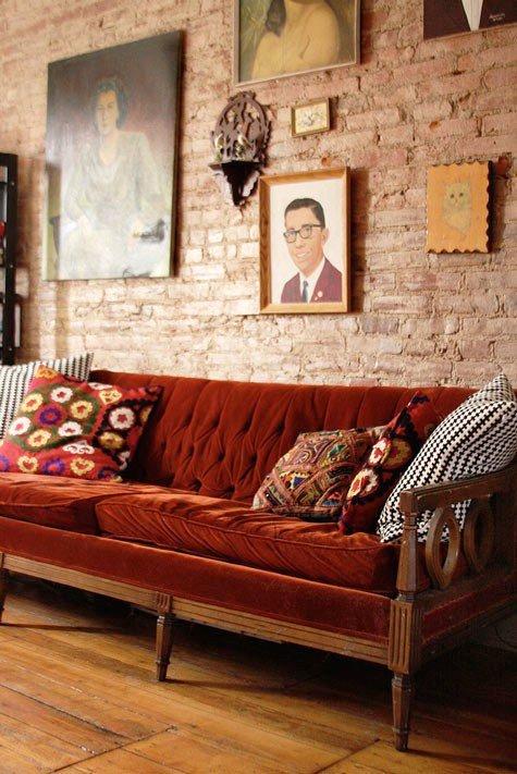 Gambar Batu Bata Desain Interior Modern dan Klasik - Tembok Batu Bata - Interior Desain Kamar Rumah 58