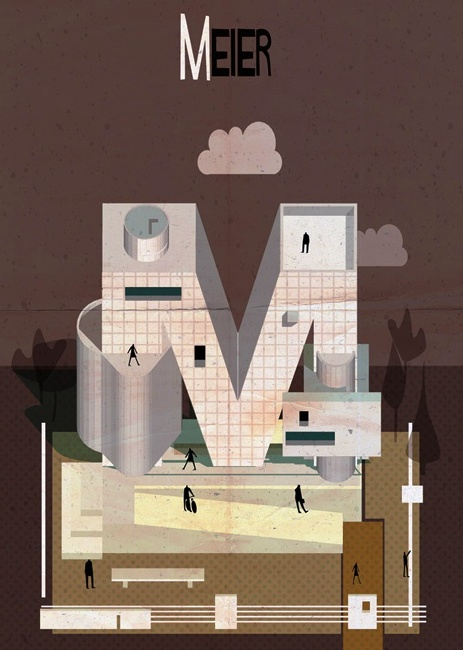 Arsitek terkenal dunia dalam ilustrasi