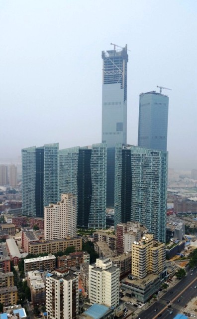 Gedung Tinggi Baru di Dunia Tahun 2015 - Eton-Place-Dalian 2