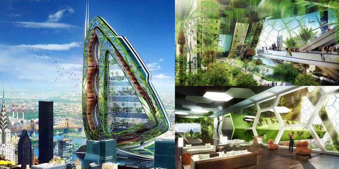 7 Arsitektur Bangunan dengan Desain Paling Futuristik yang Keren