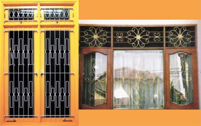Model Teralis Modern Untuk Jendela Dari Besi Tempa