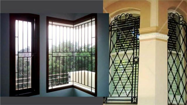 Contoh model teralis modern untuk jendela dari besi tempa