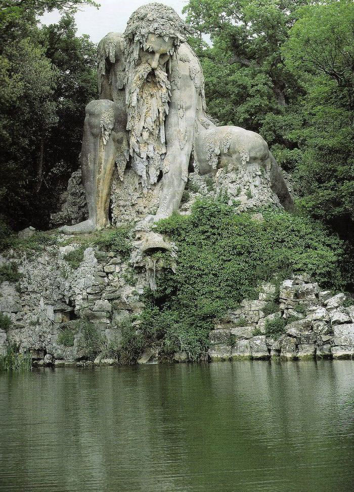 Beauties of Giant 16th Century Colossus Sculpture in Italy