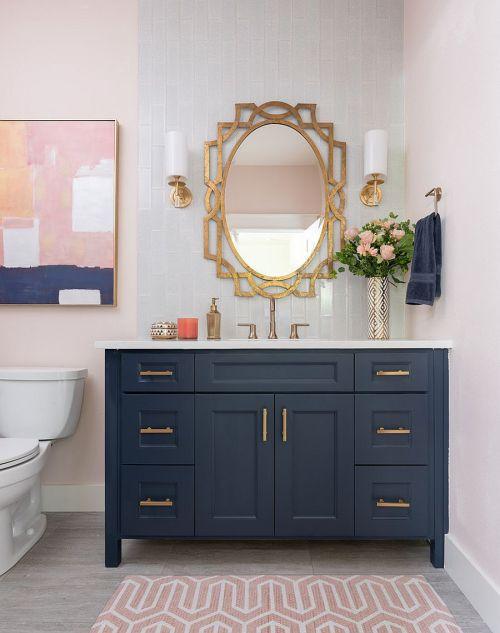 Interior Kamar Mandi Dengan Warna Elegan yang Ngetren