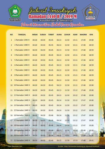 Jadwal Imsakiyah Ramadhan 2019 1440 Free Download