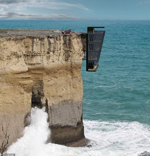 Rumah Mewah di Pantai Curam: Nyali dan Kemewahan Hunian