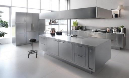 18 Desain Dapur Stainless Steel Yang Indah