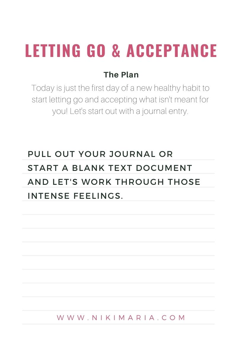 how to let go journal