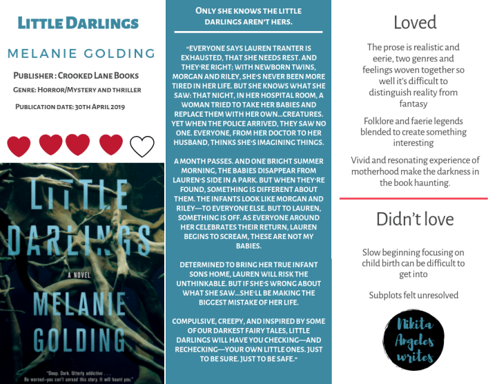 Little Darlings - Melanie Golding Quick Review