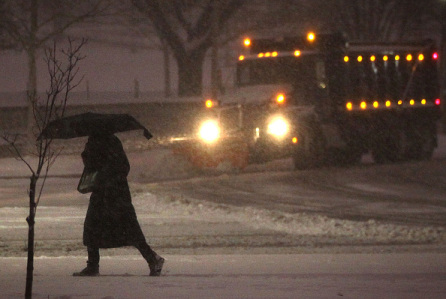 Mid Atlantic States Prepare For Large Snow Storm