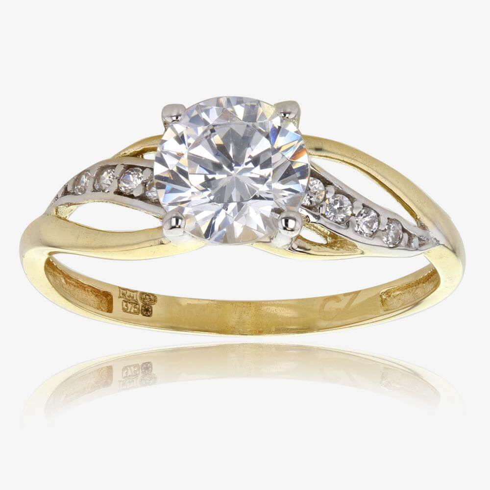 leafy engagement arpund band diamond gold around with joanna wrap organic rings products