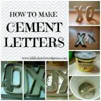 Bazinga!  How to Make Cement Letters