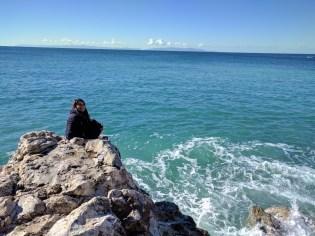 Rocks by the private beach