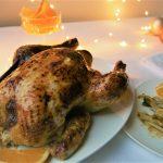 Geroosterde kip met sinaasappel en venkelsalade