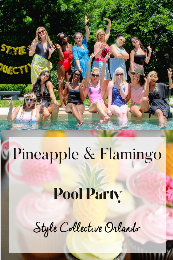PINEAPPLE AND FLAMINGO POOL PARTY