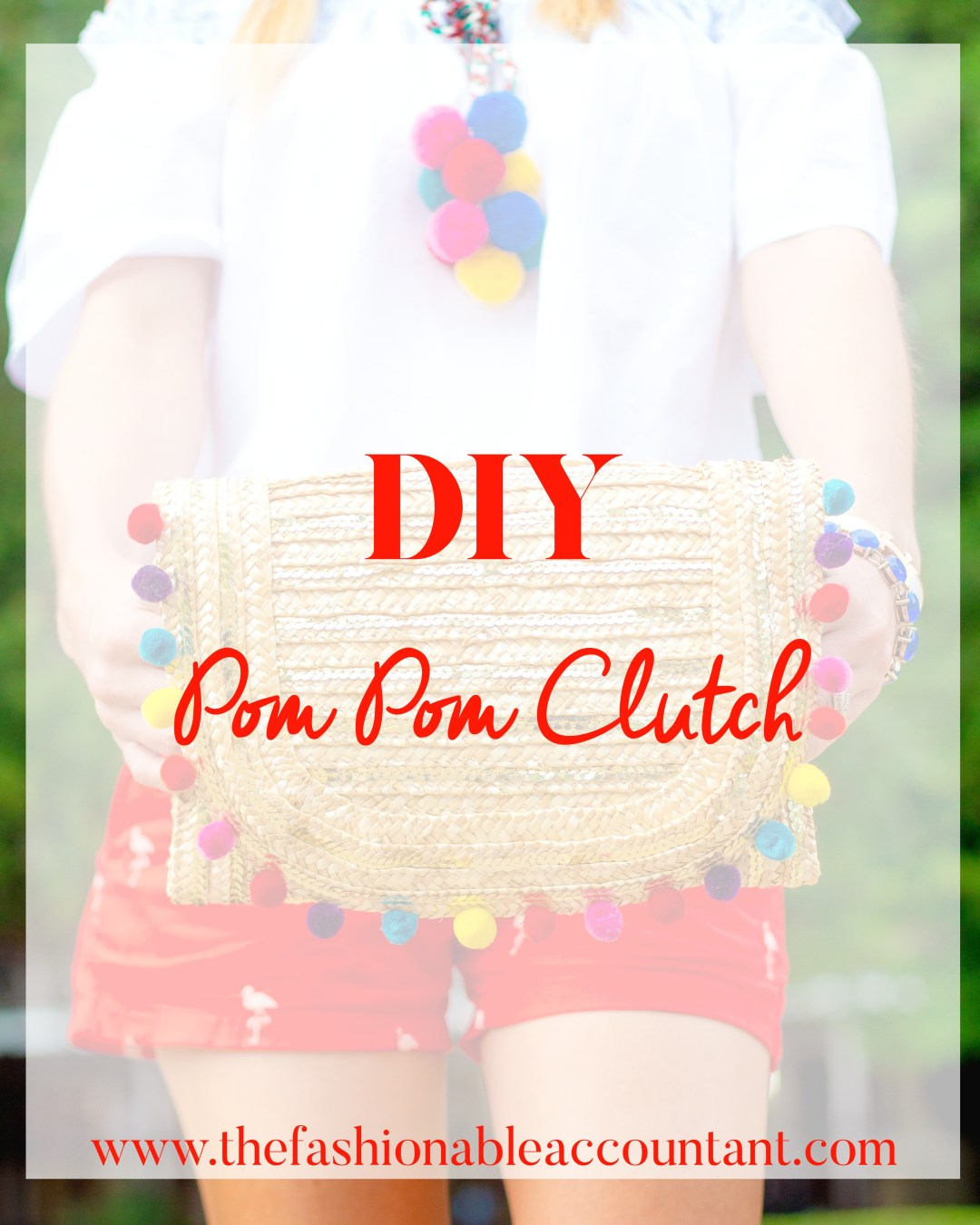 DIY POM POM CLUTCH + POM-POM TOP