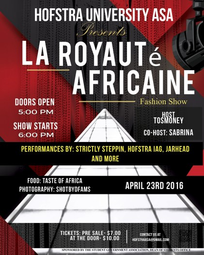 Hofstra University ASA Presents La Royaute African Fashion Show 2016
