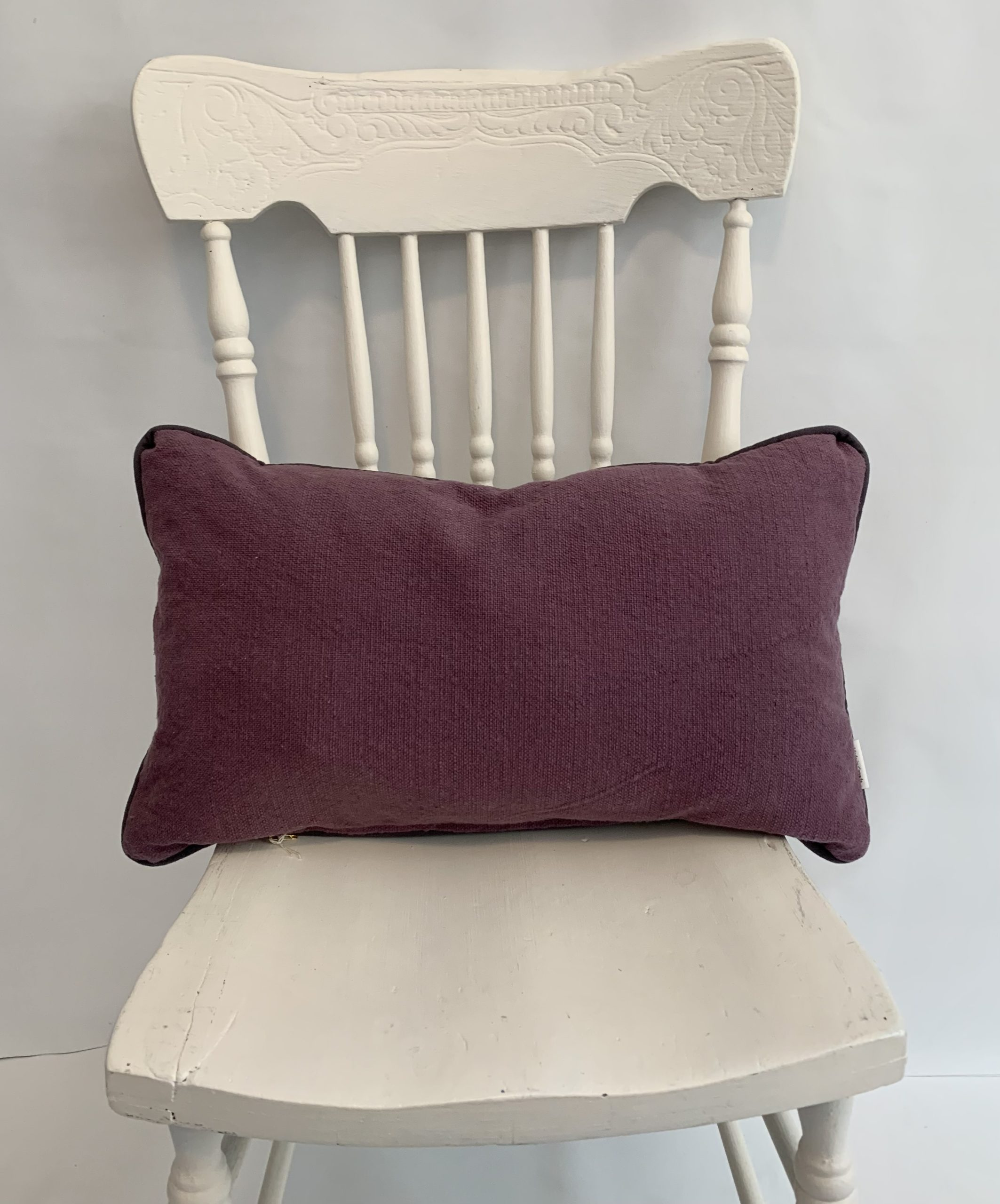 ultra violet and grey pillow covers 12x20