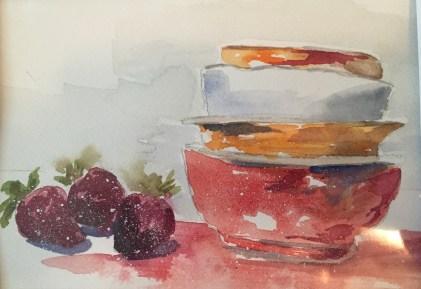 Fruit Bowls, Original Watercolor, SOLD