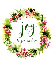 Joy to You and Me Christmas Card Cards are available.