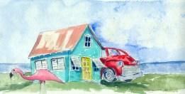 Love Shack - Original Watercolor $85