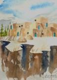 Arroyo Seco Gorge Original Watercolor  $150 framed