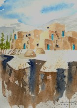 Arroyo Seco Gorge Original Watercolor  $150 framed