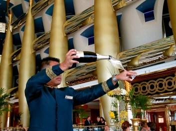 Champagne at the Burj
