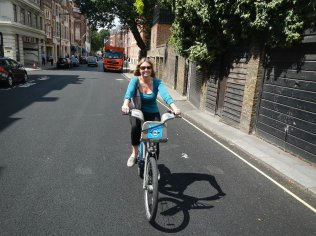 Cycling the streets of London