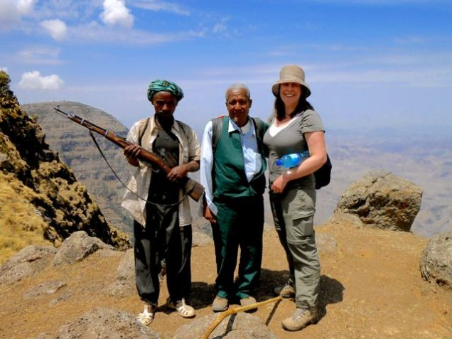 Anna, our guide and scout in the Simien Mountains