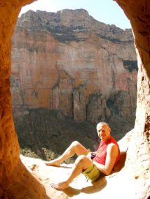 Igal outside the church