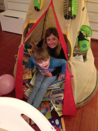 Books and Teepees with Luke