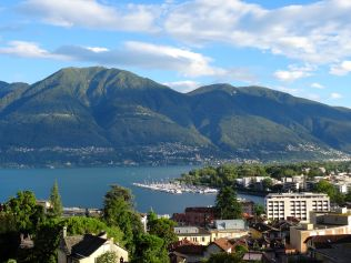 View from our apartment in Locarno, Switzerland