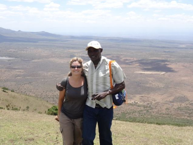 With Matthew in the Ngong Hills