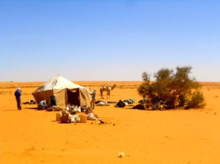 Our lunch tent - for when there wasn't enough shade