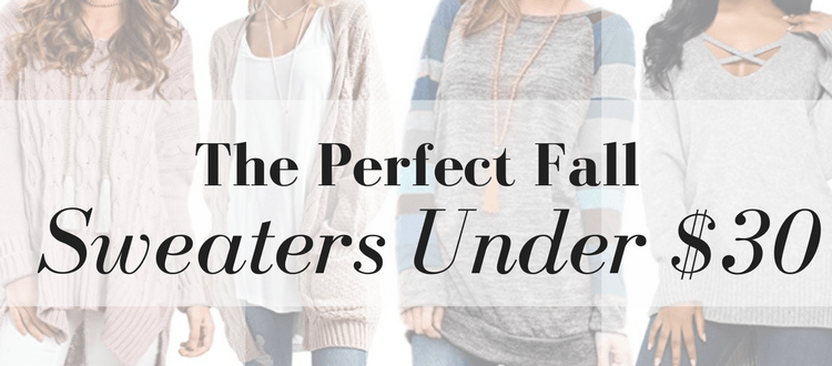The Perfect Fall Sweaters Under $30