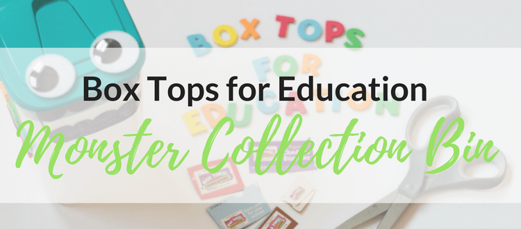 Box Tops for Education Monster Collection Bin