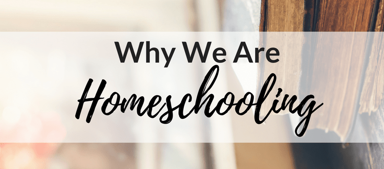 Why We Are Homeschooling
