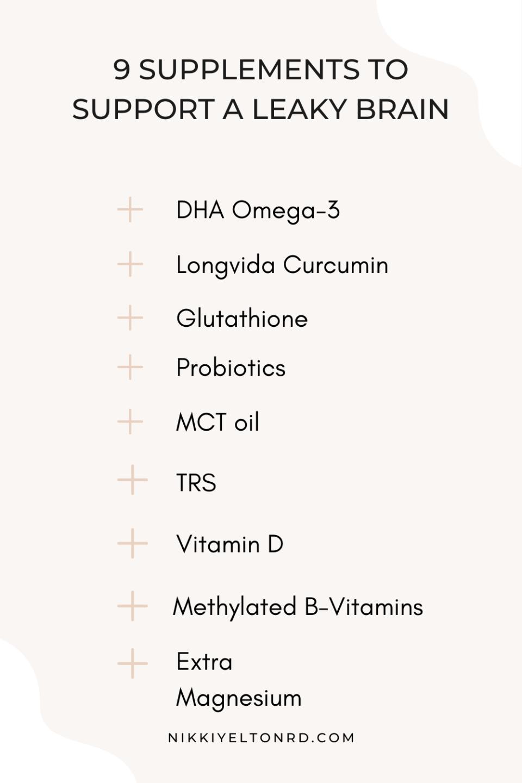 Supplements For Blood Brain Barrier