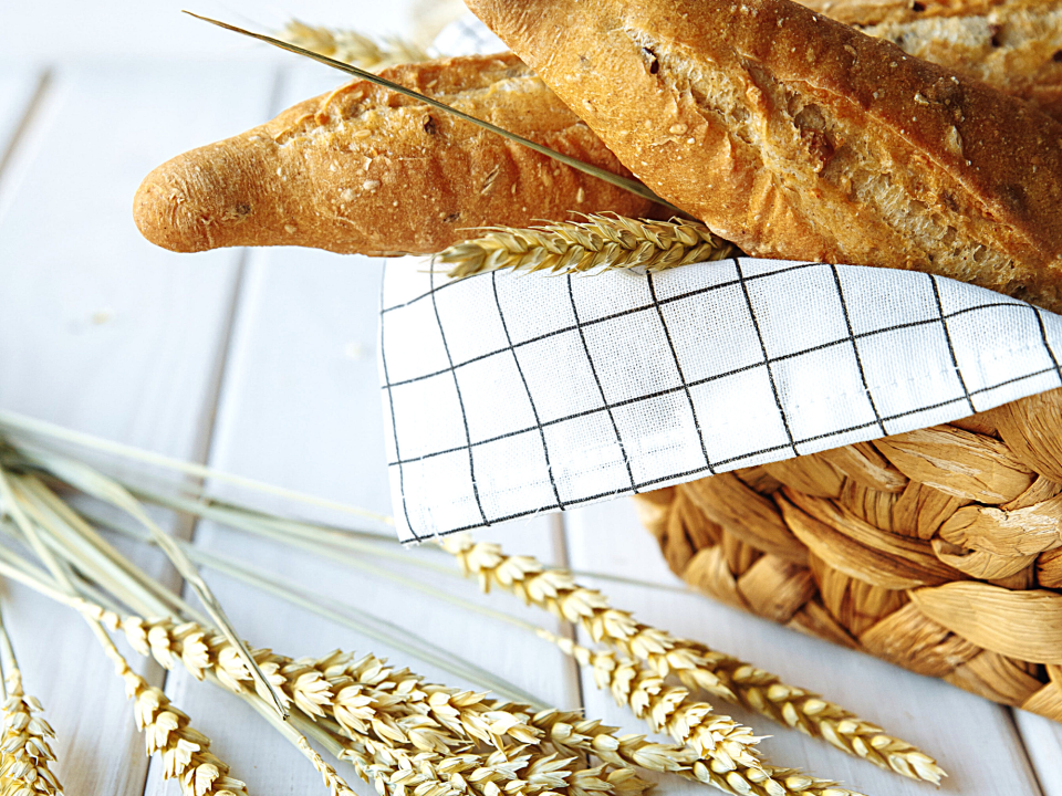 Bread and wheat which is what you should avoid when on a gluten free diet