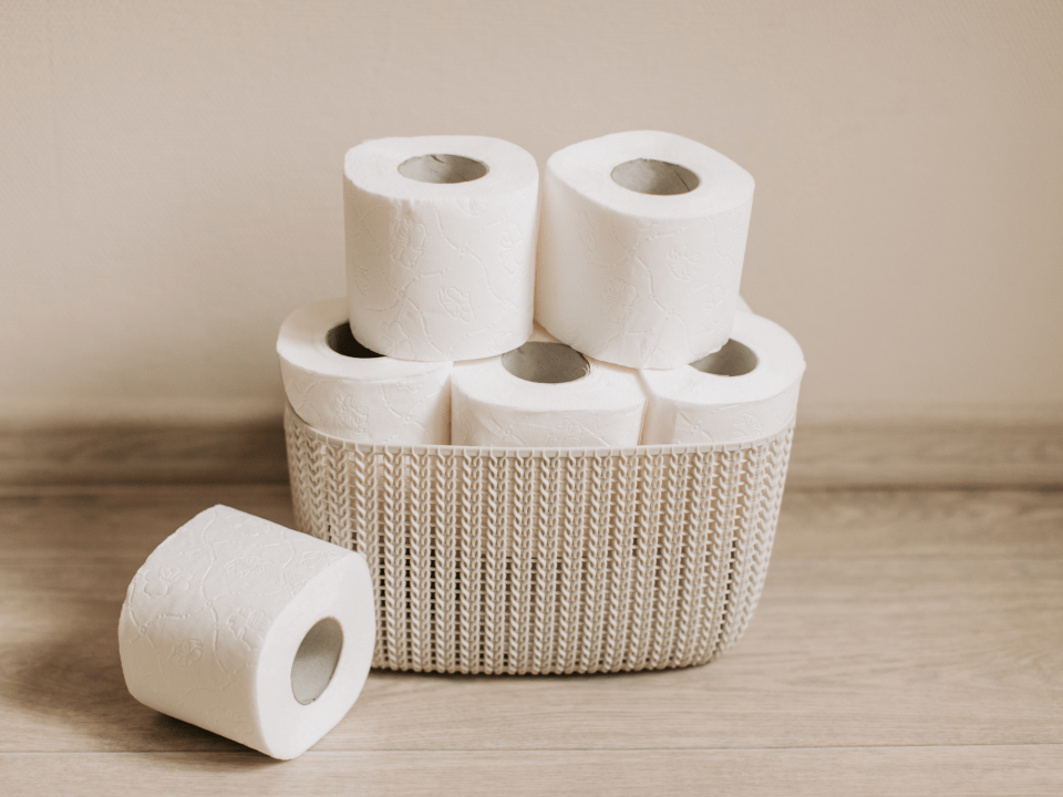 An image of toilet paper for healthy poop