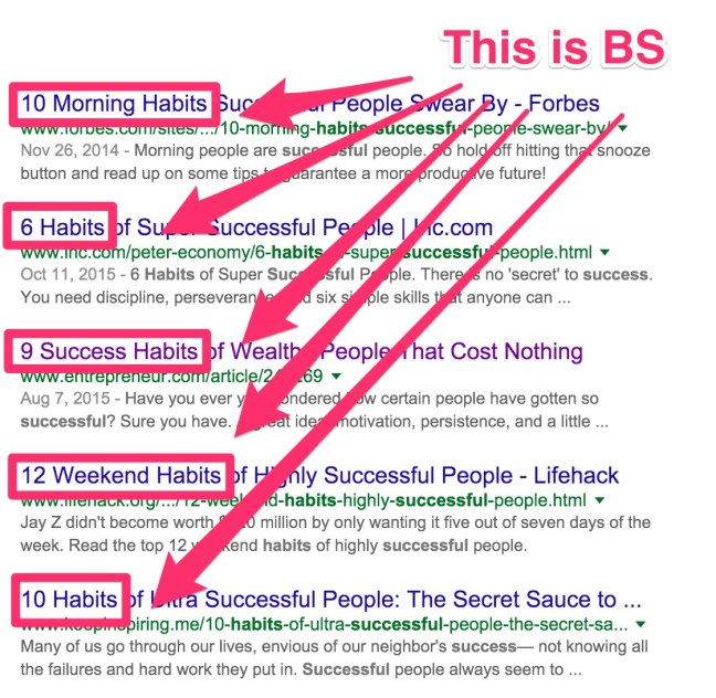 habits of the rich bs result