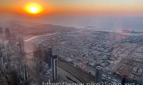 ブルジュ・ハリファ 、 バージ・カリファ最上階からの夜景