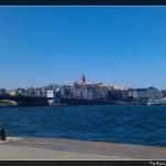Pogled na Galata toranj sa trajektnog pristaništa Sirkeci