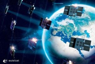 Δορυφόροι σε τροχιά προκειμένου να εξασφαλίζουν πραγματικά διαστημικές ταχύτητες Ιντερνετ. Photo via eutelsat.com