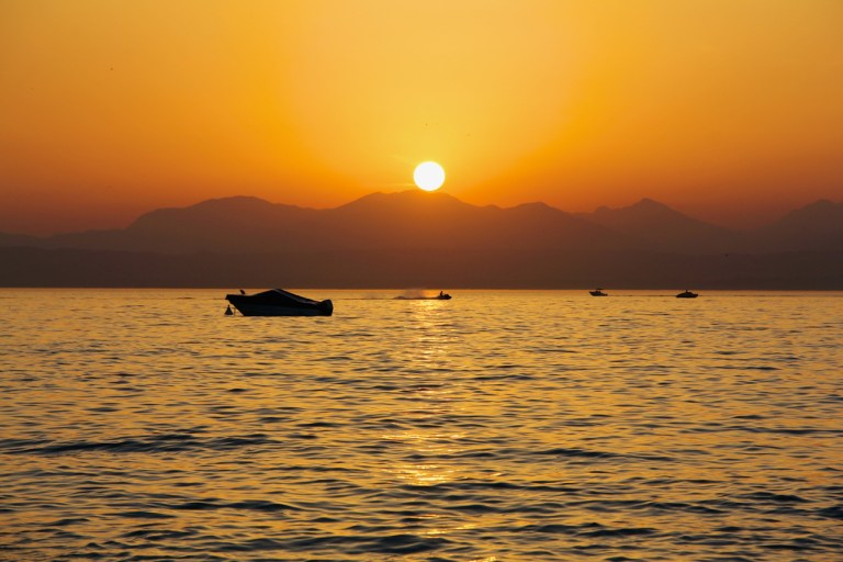 Sunset At The 'Lago Di Garda'