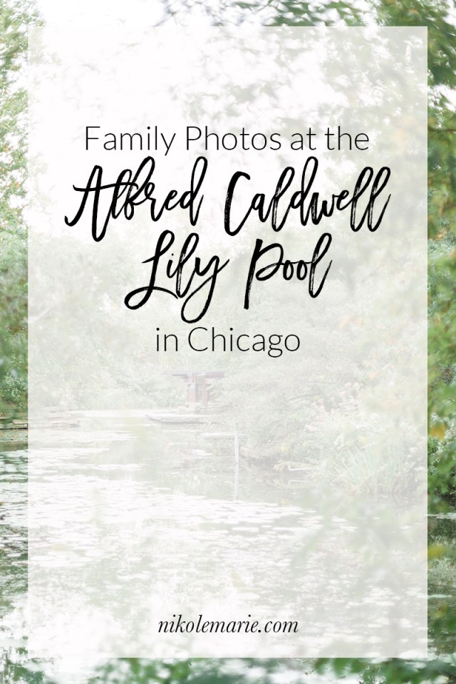 family photos at the Alfred Caldwell Lily Pool
